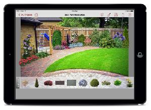 Landscaping App on iPad